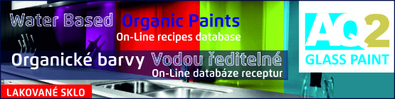 Water based organic paint for glass